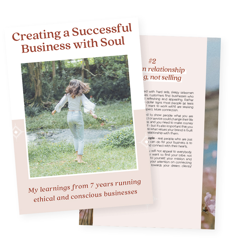 creating a successful business with soul ebook